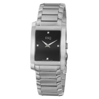 ESQ by Movado Mens Venture Stainless Steel Swiss Quartz Watch