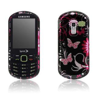Samsung Restore M570 Pink Butterfly Design Crystal Case