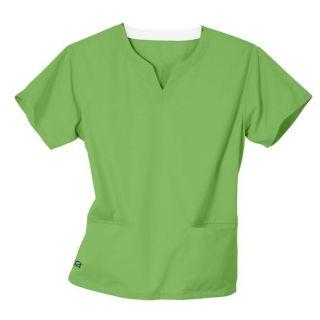 IguanaMed Womens Notch Neck Iguana Green 2 pocket Scrub Top