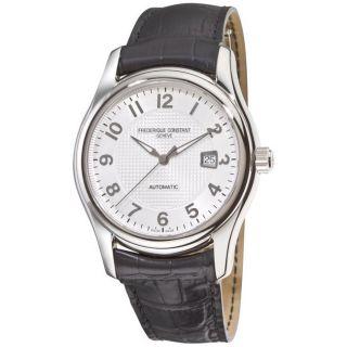 Frederique Constant Mens Runabout Automatic Leather Strap Watch