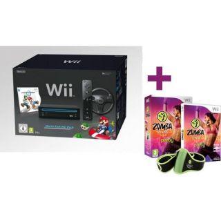Wii NOIRE MARIO KART + ZUMBA FITNESS   Achat / Vente WII Wii NOIRE