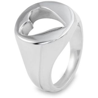 Stainless Steel Heart Cutout Ring