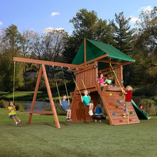 Swing N Slide Athena Redwood Swing Set Play Set