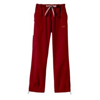 IguanaMed Womens Macintosh Red Sport Cargo Scrub Pants