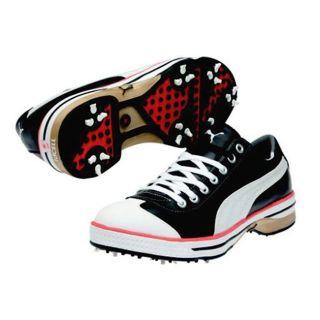 Puma Mens Club 917 Ribbon Black/ White/ Cherry Tomato Golf Shoes