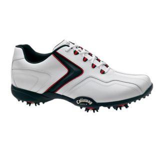 Callaway Mens Chev LP White/ Black/ Red Golf Shoes