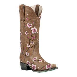 Womens Lane Boots Sakura Brown/Pink Leather