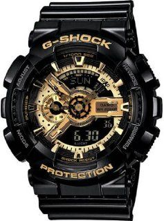 Mens Black G Shock Digital Anti Magnetic Gold Tone Analog [Watch