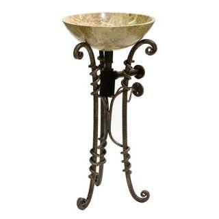 DreamLine Wrought Iron Stand/ Rectangular Iron Mirror/ Emperador Sink