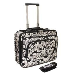 World Traveler Leaf Scroll Fashion Print Womens Rolling 17 inch