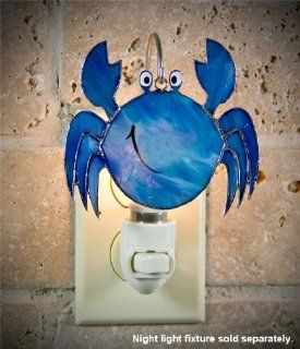 SWITCHABLES SW 132   BLUE CRAB Stained Glass Night Light Cover