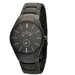 Skagen Mens Stainless Steel Black Matte Watch