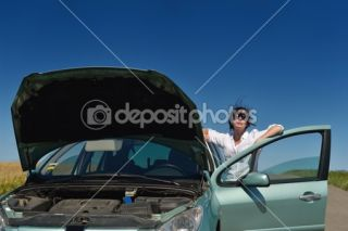 woman with broken car  Foto Stock © benis arapovic #13216894