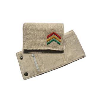 Hemp Rasta Stripe Tri fold Wallet (Nepal)