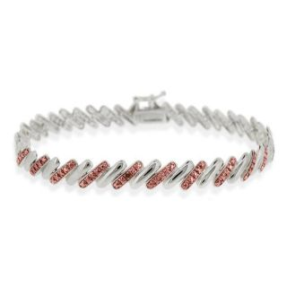 DB Designs Rose Gold over Silver Champagne Diamond San Marco Bracelet