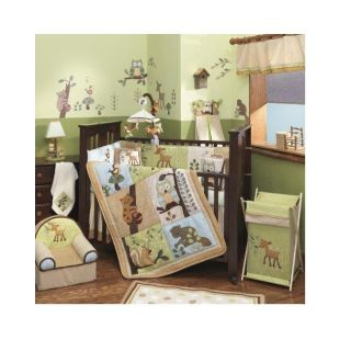 Lambs & Ivy Enchanted Forest 6 piece Crib Bedding Set