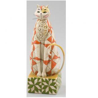 Jim Shore Orange Star Cat Figurine