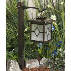 Paradise Garden 2 in 1 Bronze Post/ Hanging Solar Light (Pack of 2
