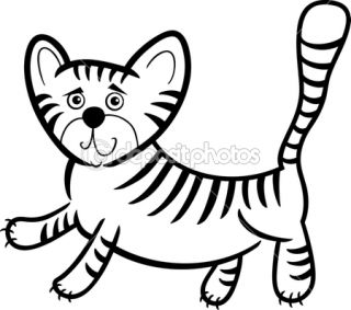 Cartoon tiger for coloring book  Vector stock © Igor Zakowski