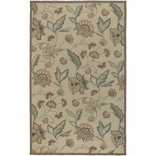 Hand hooked Tropic Collection Indoor/Outdoor Floral Rug (8 x 10)