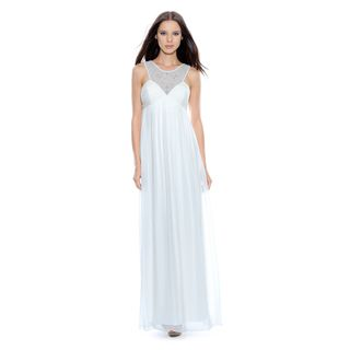 Decode 1.8 Womens Long Ivory Social Dress