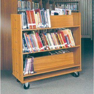 Book Truck   Six Shelves Finish Dixie Oak Office