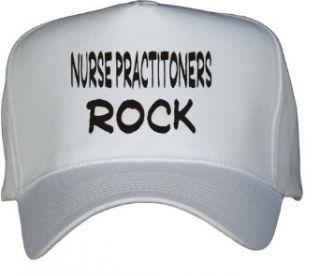 Nurse Practitioners Rock White Hat / Baseball Cap