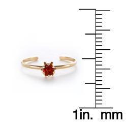 14k Yellow Gold Garnet Birthstone Ring