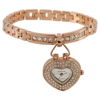 Dufonte by Lucien Piccard Womens Follow Your Heart 14K Rose Gold