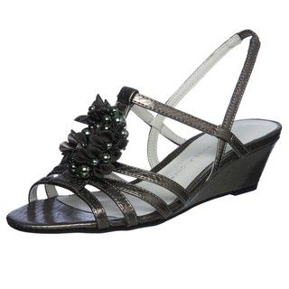 Eienne Aigner Womens Onna Demi Wedge Sandals
