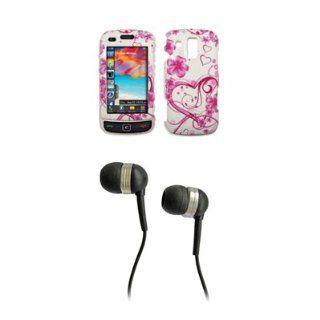 Samsung Rogue U960 Premium White Love Heart Snap on Case