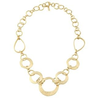Rivka Friedman 18k Yellow Gold Overlay Graduated Link Necklace