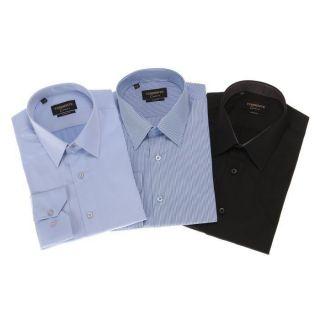 TORRENTE COUTURE Chemise Auriol/Lincoln/Mc Mahon Noir, bleu et blanc