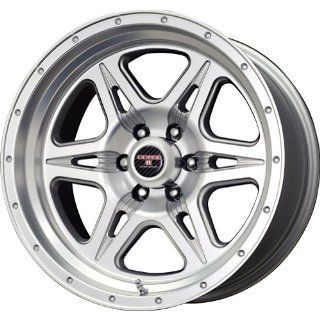 Level 8 Strike 6 Matte Silver Machined Wheel (17x9/6x135mm)