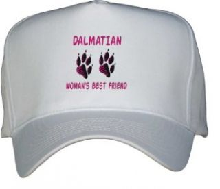 DALMATIAN WOMANS BEST FRIEND White Hat / Baseball Cap