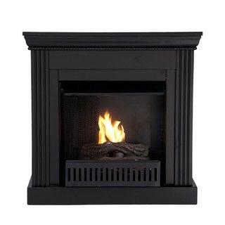 Martel Black Convertible Petite Gel Fuel Fireplace