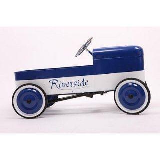 BAGHERA   Voiture à pédales en métal 1930   Riverside Bleu/Blanc de