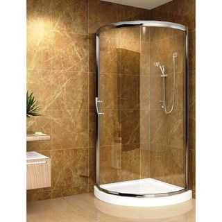 Aston 36x36 inch 5mm Round Clear Glass Shower Enclosure/ Base
