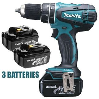Perceuse visseuse makita 18v 3ah avec 3 batteries lithium   MAKITA ref