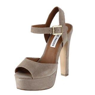 Steve Madden Womens Dynemite Taupe High heel Platforms