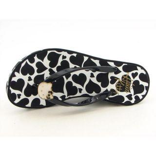 Hello Kitty Womens Bianca Black Sandals & Flip Flops (Size 7