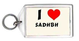 I love Sadhbh personalized keychain (first name/surname