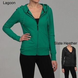 Calvin Klein Performance Womens Drawstring Hooded Zip front Jacket