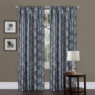 Lush Decor Blue/ Brown 84 inch Circle Charm Curtain Panel