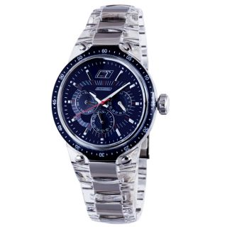 Chronotech Mens Blue Dial Day/Date/ 24 Hour Display Sub Dials Plastic
