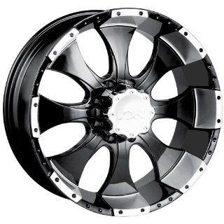 ION Alloy Style 137 (Black w/ Machined Lip) Wheels/Rims 8x170 (137