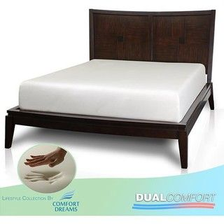 Comfort Dreams Dual Comfort 12 inch Cal King size Memory Foam Mattress