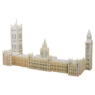 Como Westmintser Children Wood Big Ben Shape Woodcraft