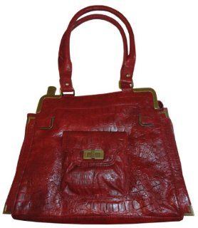 Womens Jessica Simpson Purse Handbag Lafayette Garnet Rose Red Shoes
