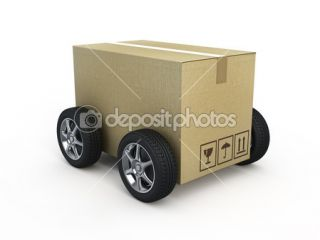 Cardboard box with wheels  Stock Photo © Alexandr Shirokov #11399969